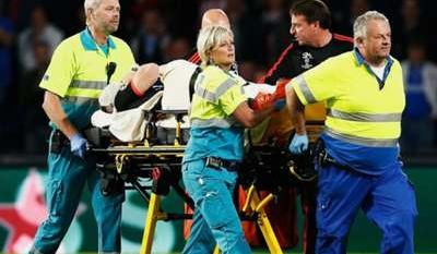 Manchester United's Luke Shaw suffers broken leg in Champions League loss