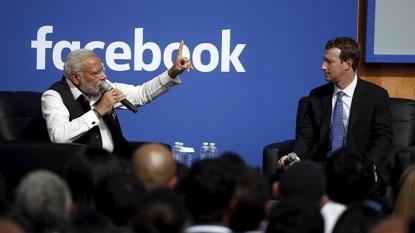 Modi hails social media power at Facebook headquarters