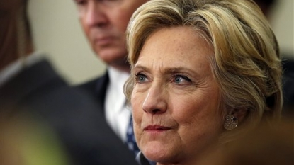 Poll shows big decline for Hillary Clinton