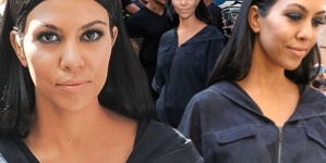 Kourtney Kardashian Looks Nothing Like Herself In Sheer Black Dress