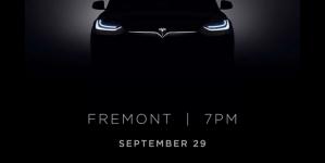 Tesla Model X Unveiling On Sept 29