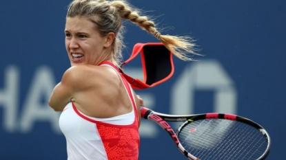 US Open: Eugenie Bouchard sustains head injury