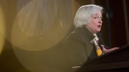 United States stocks open higher on Yellen speech, GDP data