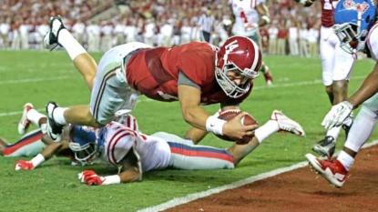 Alabama, Auburn tumble in AP poll after Saturday losses