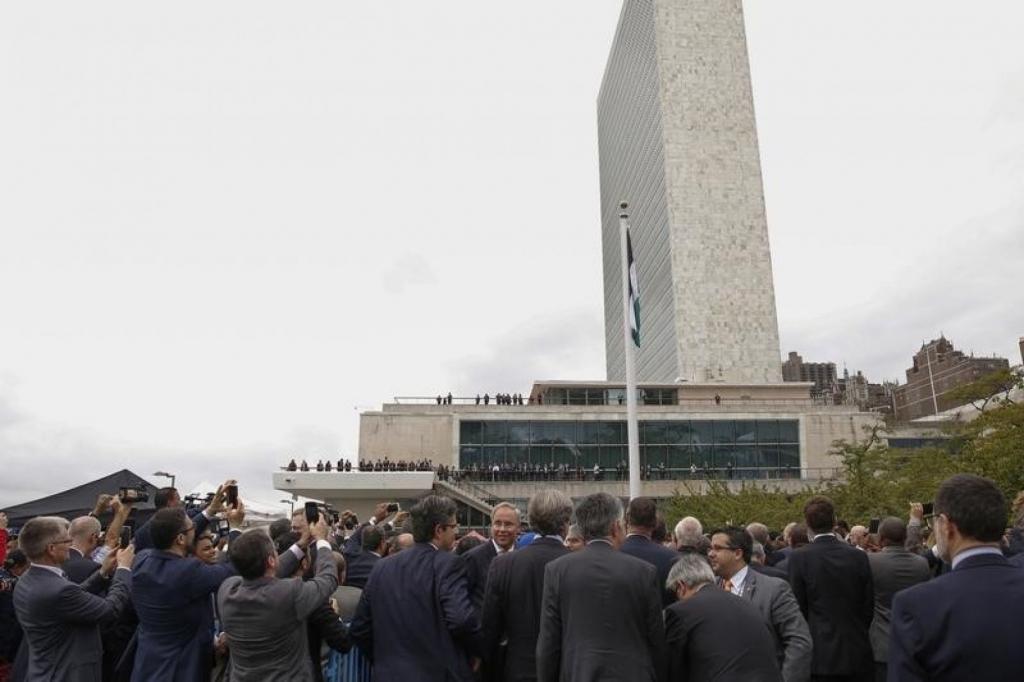 At United Nations, Israeli leader calls on Palestinians to resume peace talks, deplores
