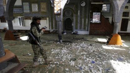 Blast rocks mosque in Yemen
