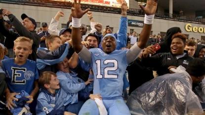 North Carolina overcomes first-half deficit to stun Georgia Tech