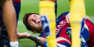 Messi's knee injury blow