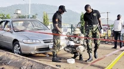 Nigerian leader visits victims of Abuja bombings