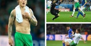 Brady's late goal fires Ireland into last 16