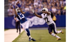 Luck, Hilton Hook Up Late to Rally Colts Past Chargers 26-22