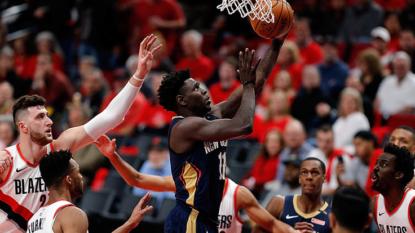 Pelicans take control , lead Blazers 3-0