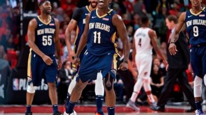 Pelicans blast Blazers, close in on sweep