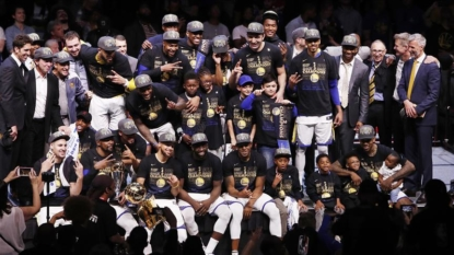 Golden State Warriors beat Cleveland Cavaliers for third title in four years
